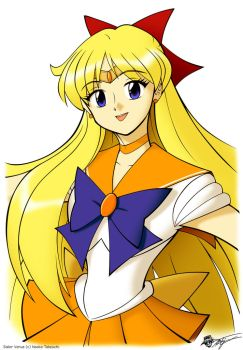 Sailor Venus portrait by ArthurT2015