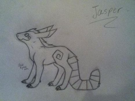 Jasper (Uncolored) New OC by Soel-Insanity