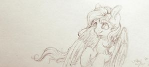 Fluttershy | S K E T C H  by AmiShy