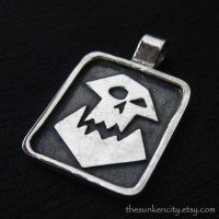 Silver Orc pendant by Sulislaw