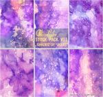 SHADES OF VIOLET - WATERCOLOR STOCK PACK VII by AuroraWienhold