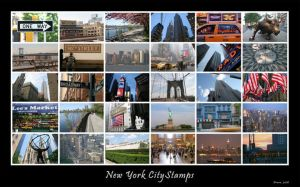 New York City Stamps by Arnau