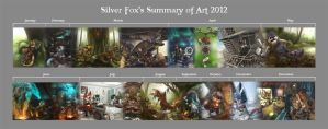 Summary of Art 2012 by Silverfox5213