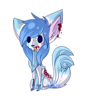 .: GlowFoxx Chibi :. by Frosty-Kitteh