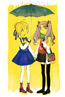Saber and Rin by Ballermina