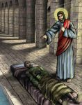 Jesus Heals the Man at the Pool of Bethesda by kidmaniac