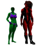 Two She-Hulks by spiresrich