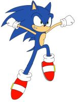 Sonic jumping pose by notredametp