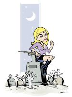 Buffy The Waiting IN COLOR by BillWalko