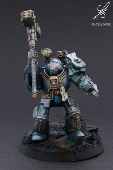 Grey Knights Paladin with Hammer by Colorfulsavage