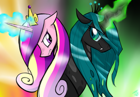 Cadence and Chrysalis by hahasauce