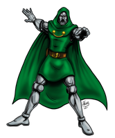 Commission: Doctor Doom by riva13