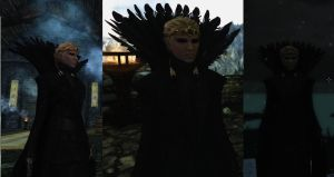 Wicked Witch  Dress for Skyrim in game by Zerofrust