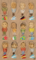 Chibi World Football Players by DRLM