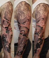 Dragon sleeve WIP by SimplyTattoo