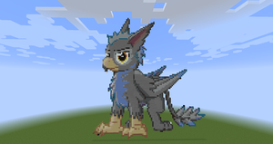 BlackGryph0n in minecraft by thin-the-chin
