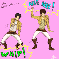 Watch Levi whip, watch Eren nae nae by Scribblerb