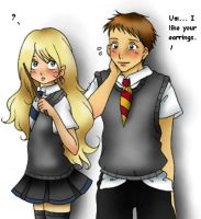 Neville loves Loony :D by Kivae
