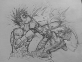 'ZERO THROWS ANOTHER LEFT HOOK--' by smashems