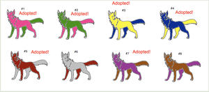 Free Wolf Adoptables Set 5: 2/8 Open! by WarriorCatLuver123