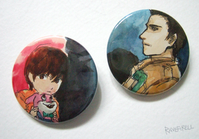 Silent Hill Homecoming Buttons by ravefirell