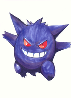 Pokemon Artwork: Gengar 2 by matsuyama-takeshi