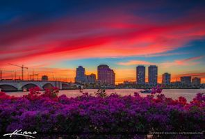 West-Palm-Beach-Florida-Glorious-Sunset-from-Water by CaptainKimo