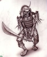 dead samurai sketch by AnibalO