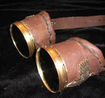 Scarab steampunk goggles by waywarddreams