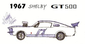 '67 Shelby Gt 500 by NowrozSOS