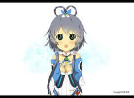 Chinese Vocaloid: Luo Tianyi + Sai Speedpaint by tsunyandere