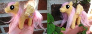 Needle felt Fluttershy Pony Doll by P-isfor-Plushes