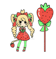 strawberry neko Auction-closed by Chibii-chii