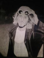 Kurt cobain drawing by CalebSlabzzzGraham