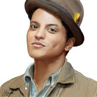 bruno mars digital painting by Echosei