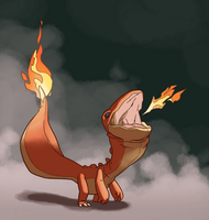 004 Charmander by TheAmoebic
