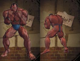 SFxT: Balrog - Thong Costume by sloth85