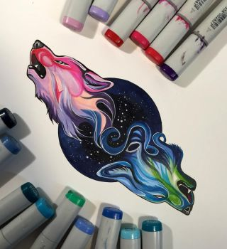 255- Marker Wolves by Lucky978