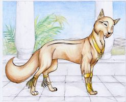 egyptian wolf by dorilysse