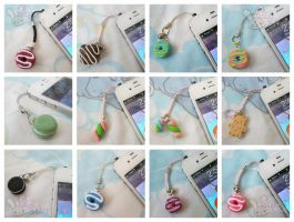 Polymer Phone Charms by ChibiWorks