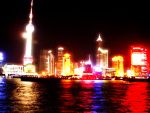 Shanghai Pier at Night by AmphionZethus