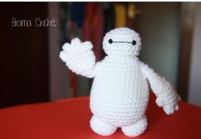 Baymax crochet amigurumi doll plush by BramaCrochet