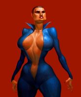 woman in blue by 0mad