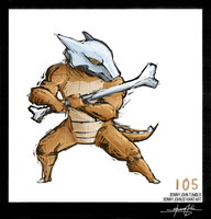 Marowak!  Pokemon One a Day! by BonnyJohn