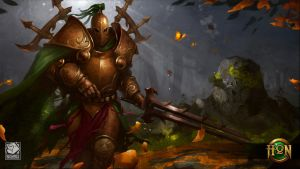 Wallpaper JPEG [Green Knight Accursed WALL Flat by GiddyGriffin