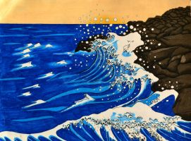 AP Art Concentration Piece. Hokusai by Jesus-Fishboy