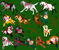 DogAdopts ALL GONE by DragonHeartLuver
