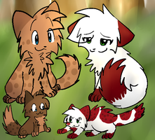 Request-runningpath,applefoot,wolfkit and flamekit by Party-Yin