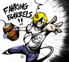 Pewdiepie Barrel Throw Version 2 by RogenUchiha