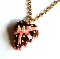 Bow Heart Cake Necklace by FatallyFeminine